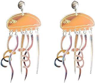 Shinmond Jellyfish Earrings Long Tassel Wavy Earrings Acrylic Dangle Earrings for Women Trendy accessories