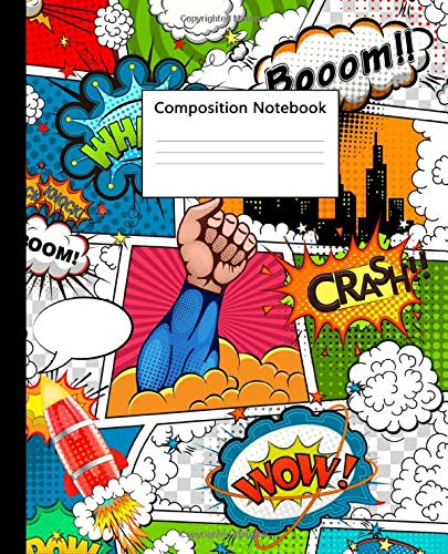 Composition Notebook: Fantastic Superheroes Wide Lined Blank Journal for School & College | Nifty Comic Heroes Blank Wide Ruled Notebook for Notes & Writing for Students & Kids.