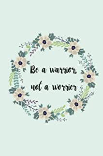 """Dot grid notebook: Be a warrior, not a worrier: 6"""" x 9"""" glossy blank dot graph memo book 140 pages"""