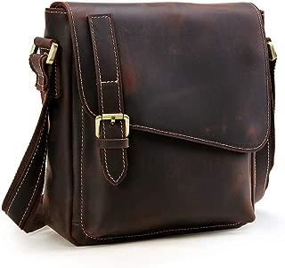 Enzovo Black Genuine Leather Crossbody Handbag for Women - Shoulder bag for Womens