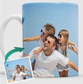Taza Personalizada con Foto Original para Regalo. Con tu Imagen y Grabado Texto.