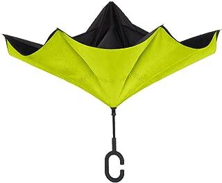 UnbelievaBrella Reverse Umbrella: Black and Sour Apple Green
