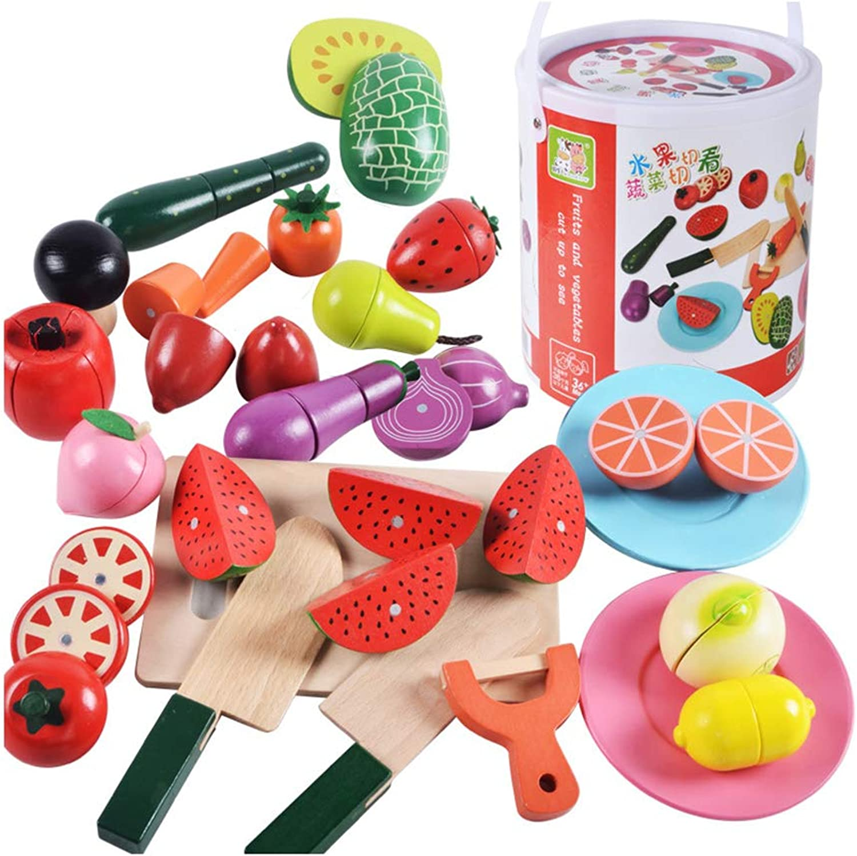 Persevebague Melody - Toy Enfants Fruit Couper Jouet Plastique Cuisine Jouer Nourriture Légume Découpage Semblant Jouer Outils Jeu DE 22 Pcs