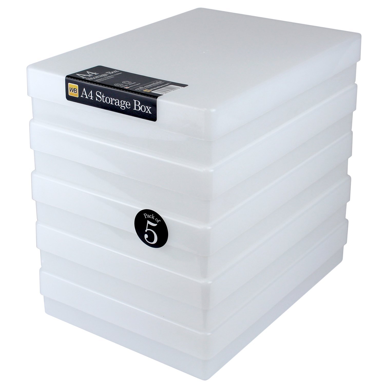 Clear WestonBoxes A5 Slim Plastic Storage or Presentation Box for A5 Paper