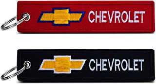 JIYUE 2Pack Embroidered Car Logo Keychain Suit for Chevrolet with Key Ring.Keychain Lanyard for Women and Men, Birthday Gifts for Women Men