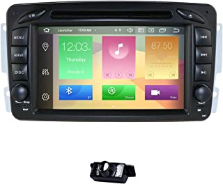 hizpo Android 9.0 Car Stereo DVD Player 7 Inch Autoradio RAM 4G ROM 64G GPS Navigation for Mercedes-Benz C-W209/ C-W203/ Viano/Vito/Vaneo/A-W168/G-W463/CLK-C209/W209 + Backup Reverse Camera
