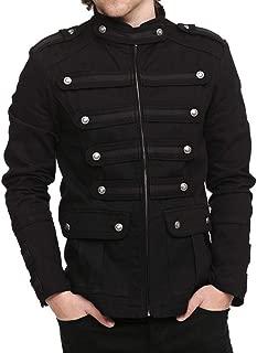 JOKHOO Mens Gothic Military Jackets Casual Band Steampunk Vintage Stylish Jacket with Pockets