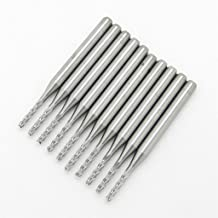 JIUWU 1.5MM Carbide End Milling Cutter,CNC Router Bits, End Mill for PCB Machine Pack of 10