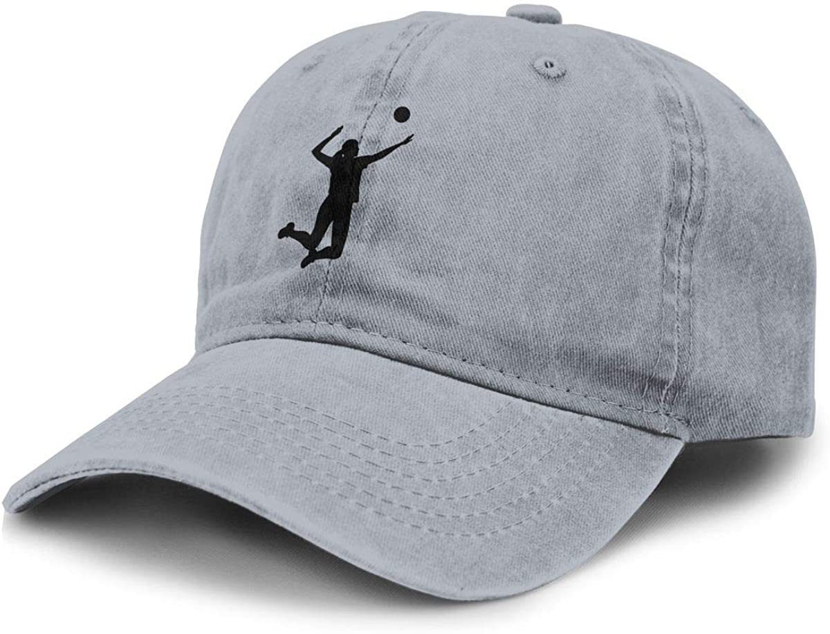 TZT Volleyball Balck Cowboy Hat Sports Baseball Cap Adjustable Hat Unisex Gray