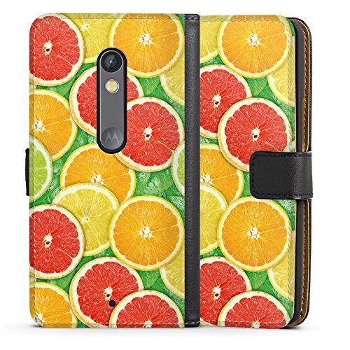 DeinDesign Lenovo Moto X Play Tasche Hülle Flip Case Lemon Zitrone Sommer Trend