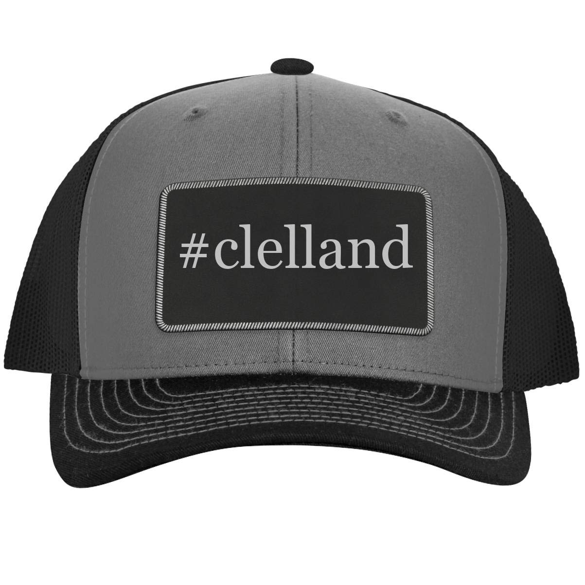 One Legging it Around #beddia Leather Hashtag Black Patch Engraved Trucker Hat