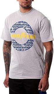 Goodyear Workwear GYTS020 arbetskläder för män sliten logotyp tryck t-shirt, Medium, grå Märgel, 1