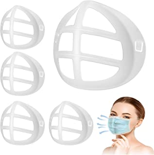 3D Mask Bracket Inner Support Frame Silicone for Comfortable Breathing Smoothly Lipstick Protection Reusable Washable 5PCS Clear