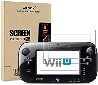 (Pack of 4) Screen Protector for Nintendo Wii U Gamepad, Akwox Ultra Clear HD Screen Protective Filter for Nintendo Wii U ...