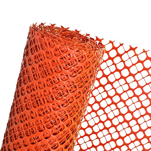 Schneefanggitter 1,2m Höhe (Meterware) Schneezaun Schutzzaun in orange