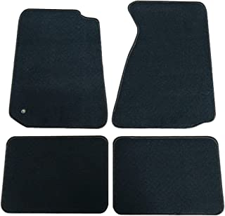 Floor Mats Compatible With 1994-1998 FORD MUSTANG | Nylon Black Front Rear Carpet by IKON MOTORSPORTS | 1995 1996 1997