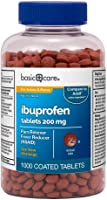 Amazon Basic Care Ibuprofen Tablets, Fever Reducer and Pain Relief from Body Aches, Headache, Arthritis Pain and More,...