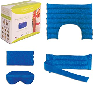 Nature Creation Full Treatment Set- Herbal Heating Pad/Cold Pack - Hot and Cold Therapy (Blue Marble)