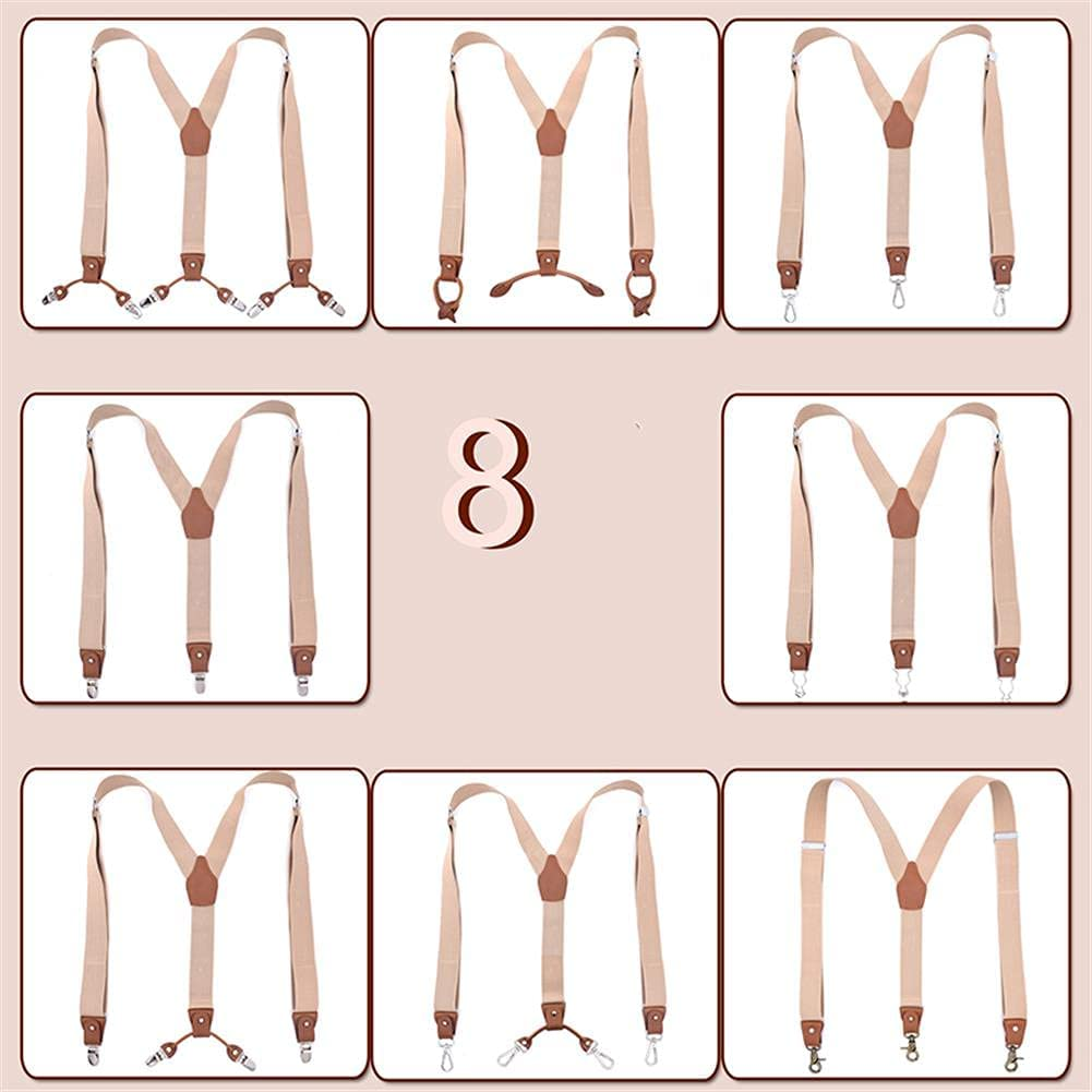Man'S Suspenders Fashion Braces Leather Multifunction Suspensoriotrousers Strap Father/Husband'S