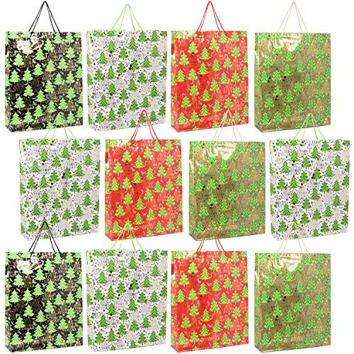 COM-FOUR® 12x geschenkzakje voor Kerstmis, geschenkzakjes