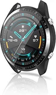 Monico Compatible for Huawei Watch GT Screen Protector,Tempered Glass Screen Protection Cover Saver Compatible for Huawei ...