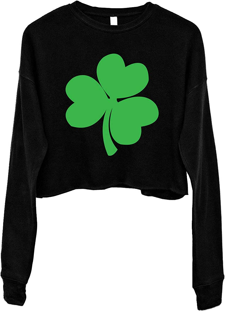 NoBull Woman Apparel shop Complete Free Shipping Shamrock Women's Cropped St. Day Patrick's