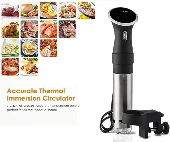COOKING Cuisine Gizmo sous Vide Circulateur à Immersion Cuisinier avec baton de Circulation Noir Noir de précision   1000 Watt avec Panneau de Comhommede à écran Tactile et Dispositif de sécurité