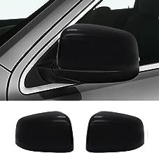 NINTE for 2011-2019 Jeep Grand Cherokee & Dodge Durango ABS Gloss Black Exterior Upper Top Half Mirror Covers
