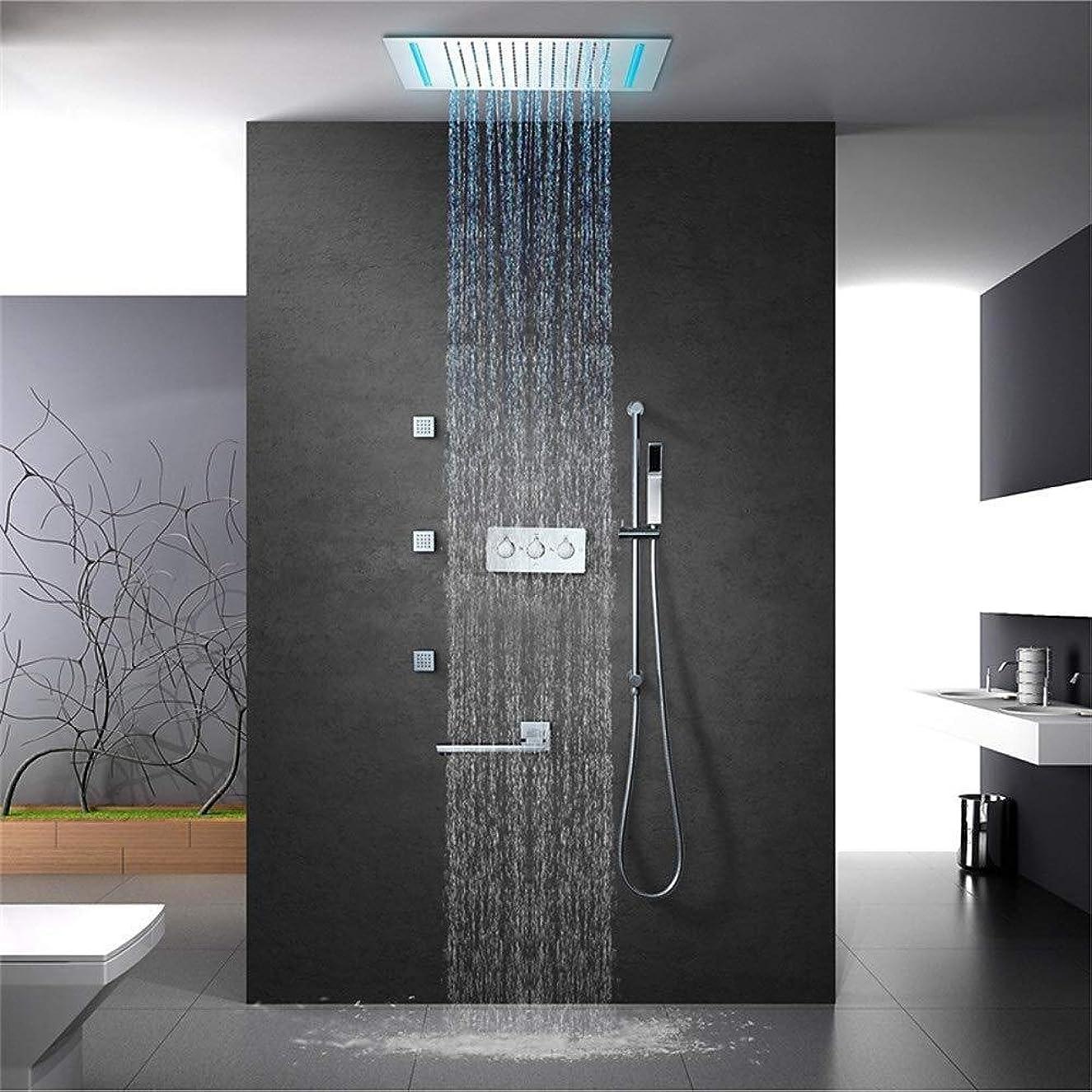 発火する唯一遺体安置所YASE-king 500件の* 360のトップスプレーシャワー単官能性固定シャワーヘッド四冷たい空いっぱい銅に隠されたシャワーの壁