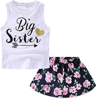 2377799f09cf Mud Kingdom Girls Outfits Summer Holiday Floral Tank Tops and Skirts  Clothes Sets Chiffon