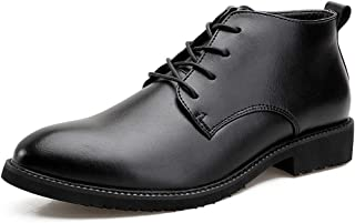 Men's Business Oxford Superficial Autumn And Winter New Ardent Cotton High-top Formal Shoes casual shoes (Color : Black, Size : 41 EU)