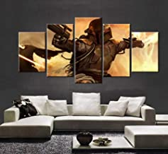 WUliuqi 5 Panel Movie Poster Star Wars Bounty Hunter Boba Fett Canvas Painting On The Wall Pictures for Living Room Oil Modular Pictures