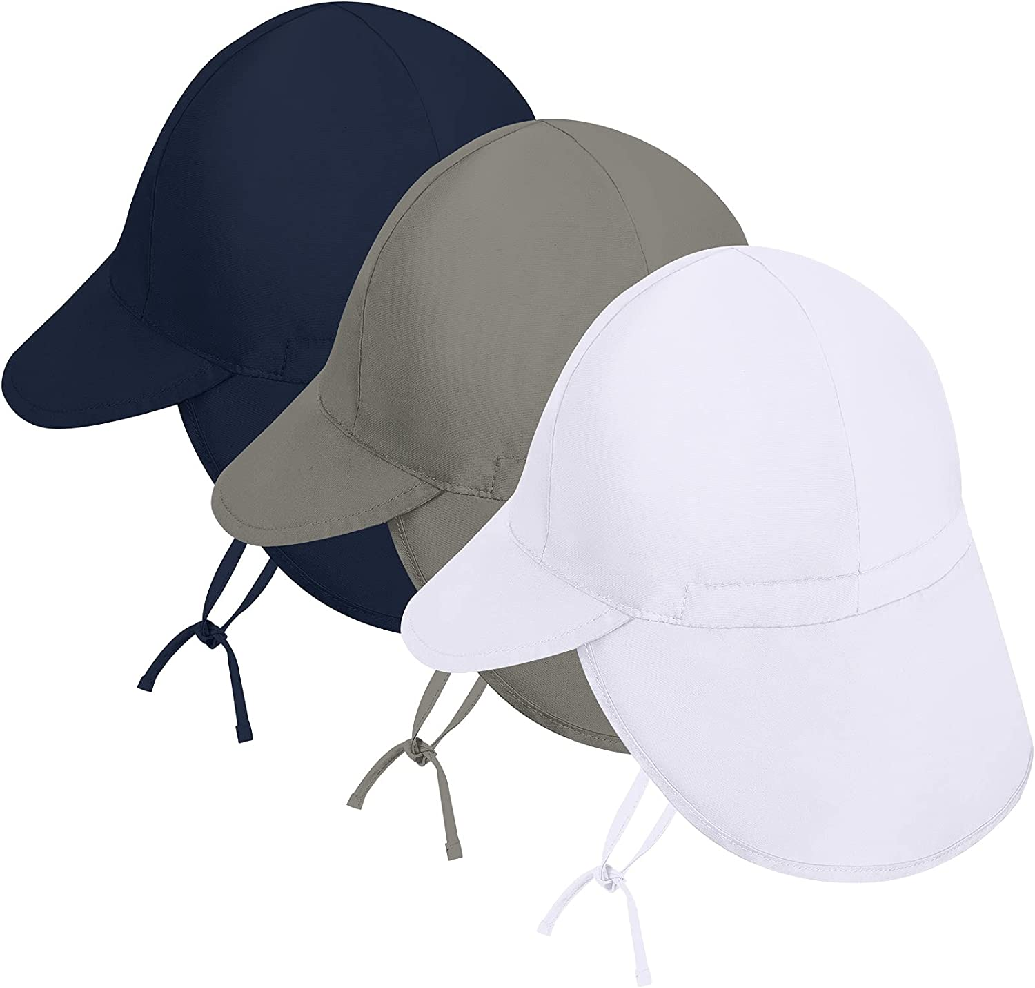 Cooraby 3 Pack Baby Sun Hat UPF 50+ Sun Protection Hat for Baby Toddler Kids