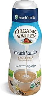 Organic Valley Usda Organic Half & Half French Vanilla Creamer, 16 Oz (Pack of 6)