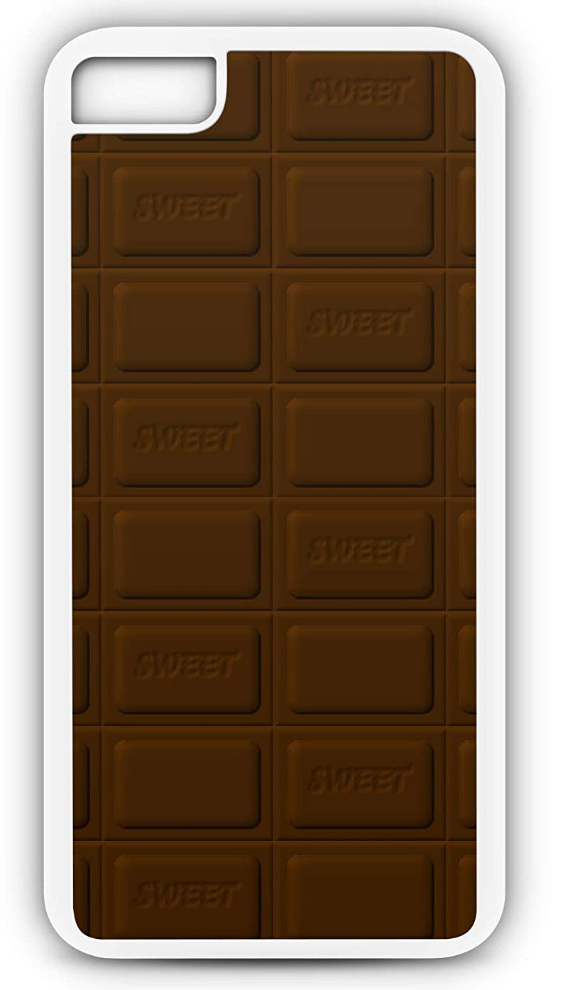 iPhone 7 Case Chocolate Bar of Dark Chocolate Sweet Candy Customizable by TYD Designs in White Plastic Black Rubber Tough Case