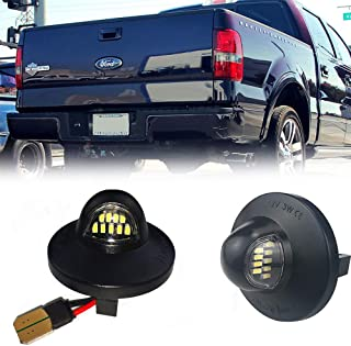 A Pair Full LED License Plate Light Lamp Assembly Replacement For Ford F150 F250 F350 F150 Heritage Superduty Ranger