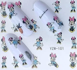 Cute Minnie Mouse Nail Decals Sticker Salon Quality Nail Art - 1 Sheet Fingernails