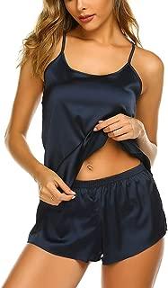 Pajamas Womens Sexy Lingerie Satin Sleepwear Cami Shorts Set Nightwear S-XXL