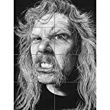 Artery8 James Hetfield Heavy Metal Wayne Maguire XL Giant Panel Poster (8 Sections) P�ster