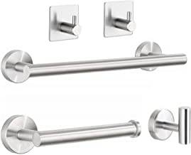 osea 5-Piece Bathroom Hardware Set, Brushed Nickel 304 Stainless Steel Round Wall Mounted Accessories Kit, Include Bath To...