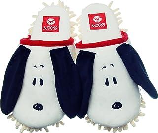ニッポンスリッパ スリッパ ピーナッツ スヌーピー 23-25cm ホワイト モップ 洗濯可 230426