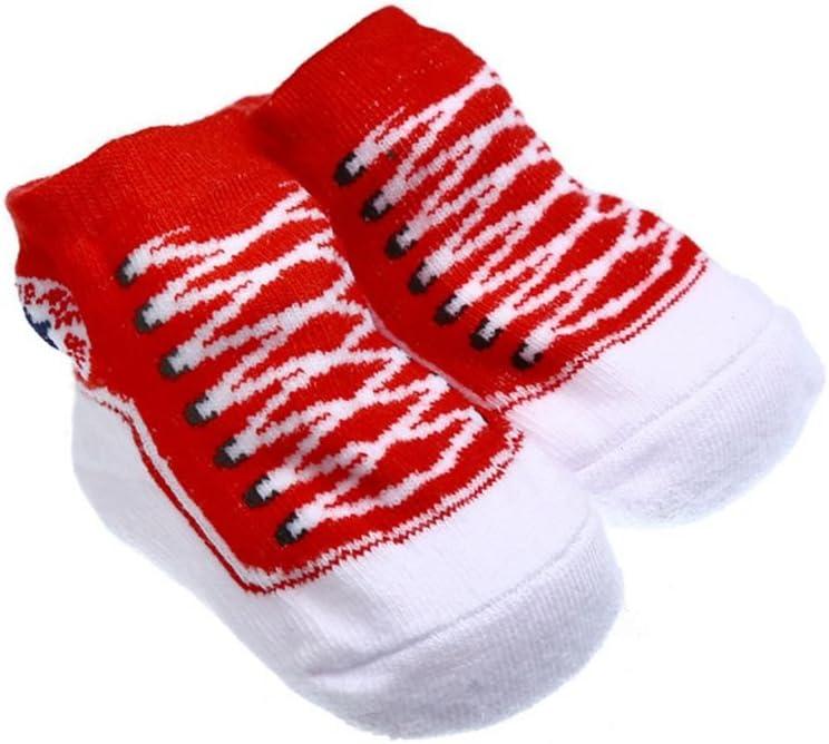 on brand Qingfaqui Anti Slip Cotone Calze Scarpe Bambino dei Pistoni Calzini 3-6 Mesi Calzini per 0-6 Mese Neonato Appena Nato Ragazze