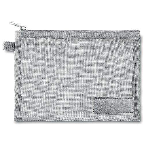 Petite Pochette de voyage, Nylon, argenté mat, 19x13.5cm