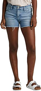 Silver Jeans Co. Women's Elyse Curvy Fit Mid Rise Short
