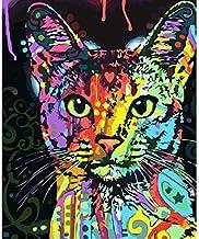 5D Diamond Art,5D DIY Diamond Painting Cross Stitch Kits Abstract Cat Picture 3D Diamond Embroidery Rhinestone Mosaic Patt...