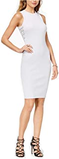 GUESS Women's Nathalie Shimmer Lace-Up Sweater Dress