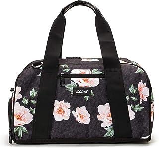 "Vooray Burner Gym Duffel, Small Gym Bag with Shoe Pocket, 16"" Compact Duffel Bag (Rose Black)"