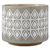 Rivet Macetero de cerámica geométrico, 10,4 cm de...