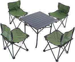 DX Folding Camping Table, Draagbare outdoor en stoel vijf-delige aluminium legering materiaal gemakkelijk te vouwen gemakk...