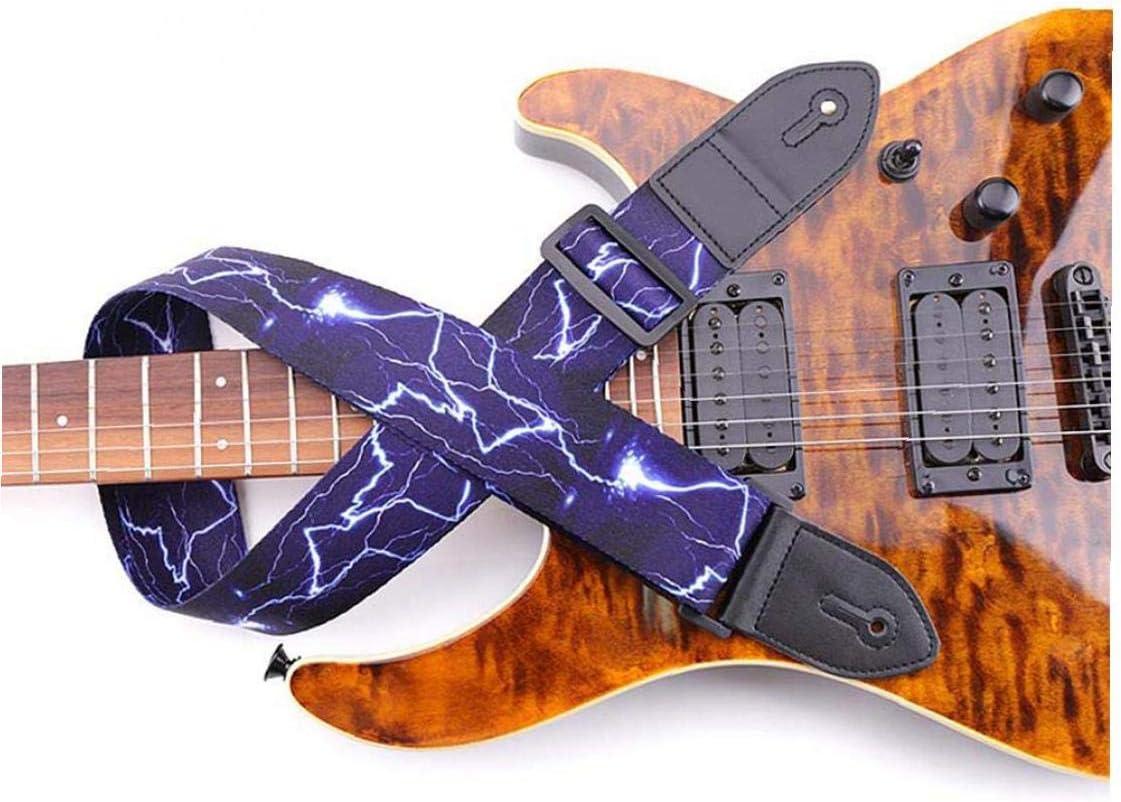 Correa De La Guitarra Popular Del Hombro Del Cuero De La Correa De Poli/éster Correa Ajustable Cl/ásica Para Guitarras Bajo El/éctrico Azul Ac/ústica